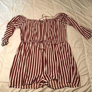 This cute red/white stripe romper!